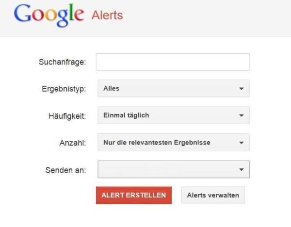 Google Alerts richtig nutzen
